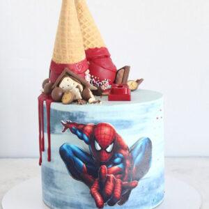 Торт з малюнком Спайдер Мена