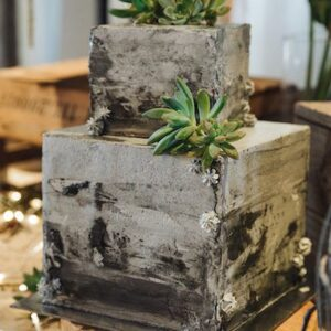 Двох'ярусний торт у вигляді двох кубів
