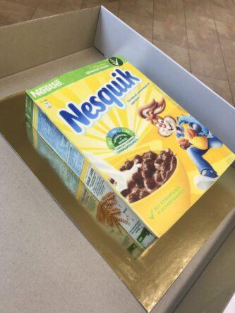 Торт в виде упаковки Несквик