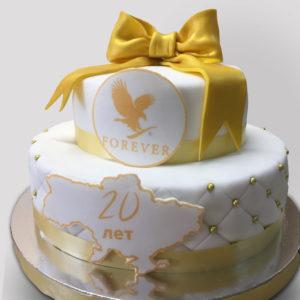 Белый корпоративный торт