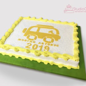Торт «Желтый автобус»