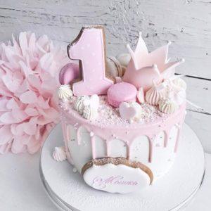 Торт для дівчинки на рік