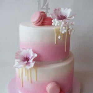 Торт на 14 років дівчині