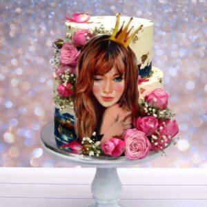 Торт «девушка с короной»