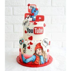 Торт для дівчинки на 8 років
