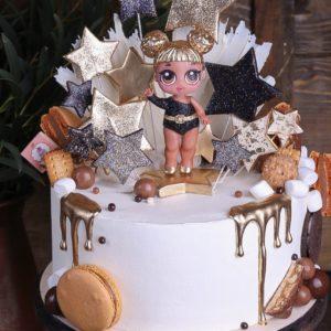 Торт з лялькою Лол