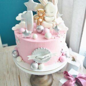 Торт на 1 рік для дівчинки