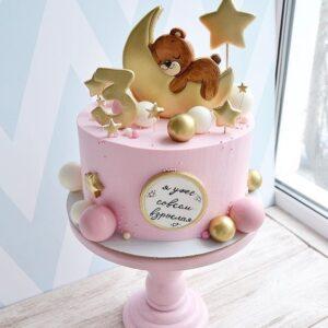 Торт с топпером на 3 года девочке