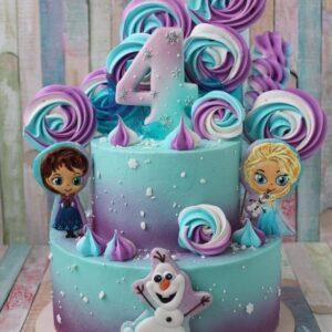Торт на 4 роки дівчинці