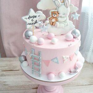 Торт на 6 місяців дівчинці