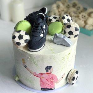 Торт на футбольную тематику