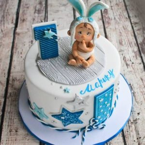 Торт на год для мальчика