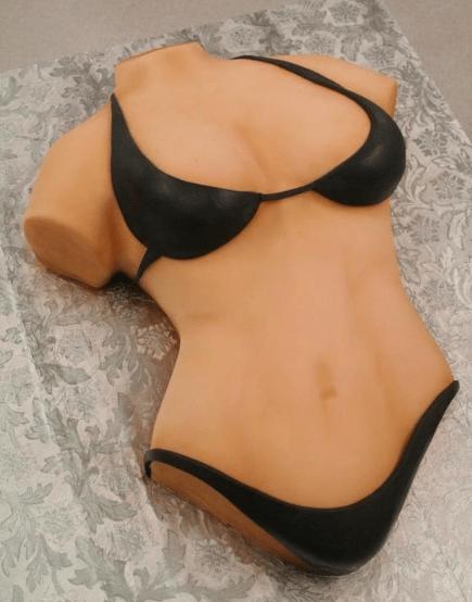 Торт в форме женского тела