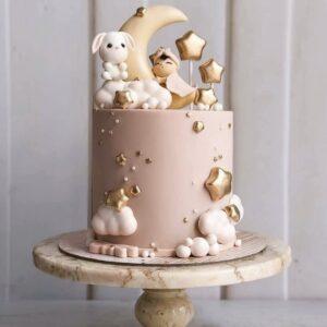 Торт с луной и звездами