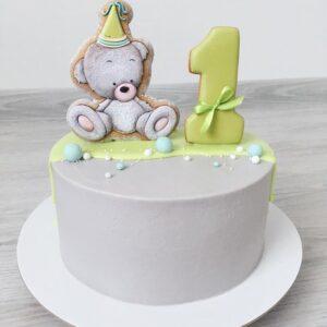 Торт с пряником на 1 год мальчику