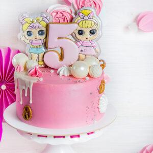 Торт с топперами куклы Лол