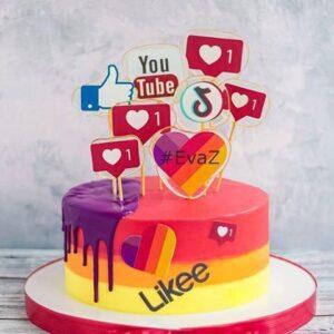 Торт «Соціальні Мережі»