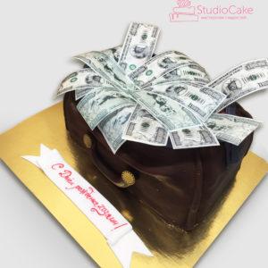 Торт сумка з доларами