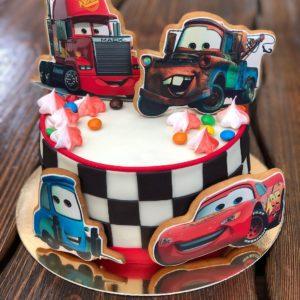 Торт Тачки с пряниками