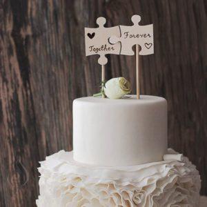 Торт свадебный пазл
