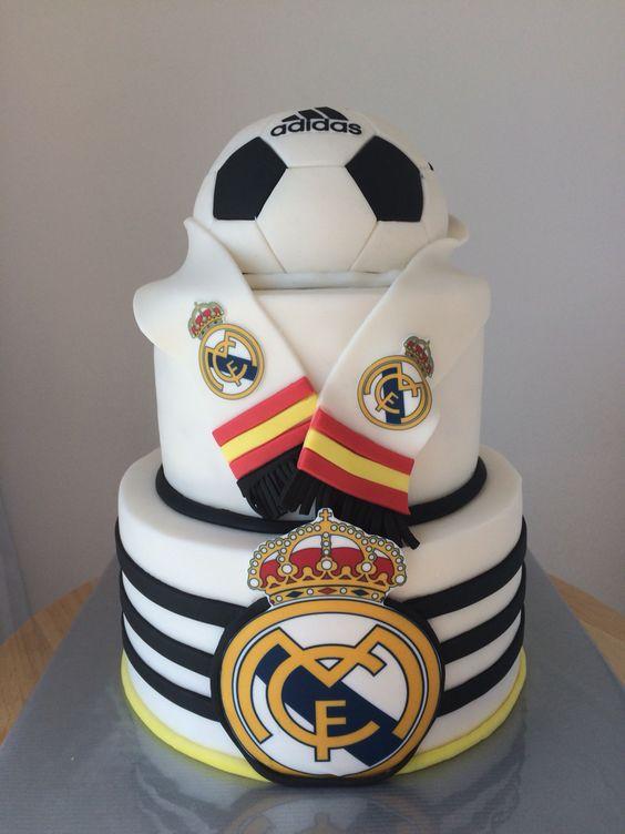 Торт футбол с логотипом Реал Мадрид