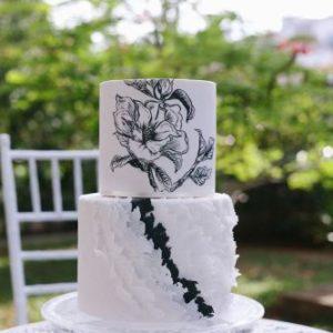 Торт с  Арт цветком