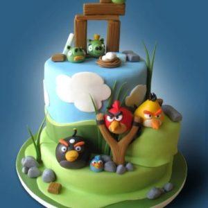 Тортик по мотивам игры Angry Birds
