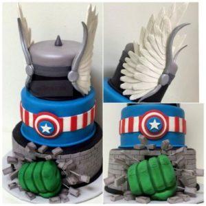 Торт из амуниции «Мстителей»