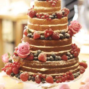 Повітряний тортик з золотими пір'їнками