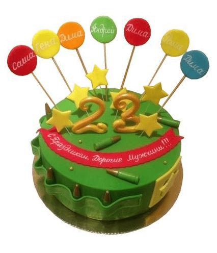 Торт со свечками 23