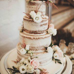 Торт открытый с цветами