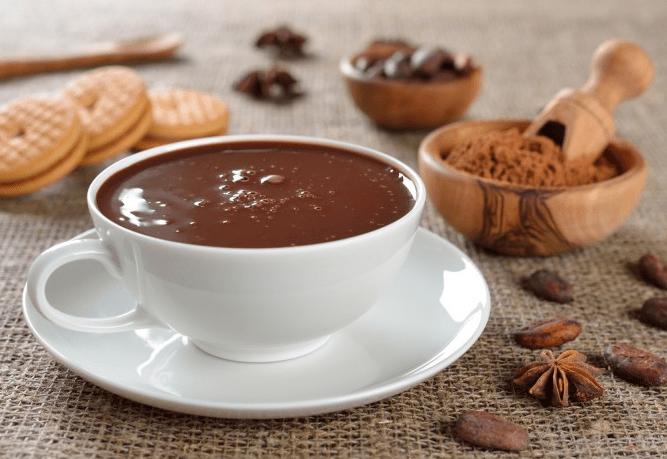 чашка с горячим шоколадом