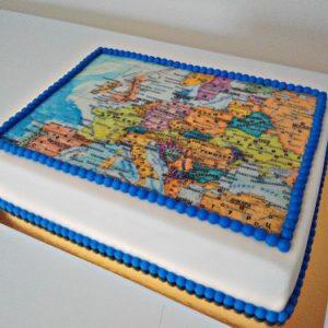 Торт «Политическая карта Европы»