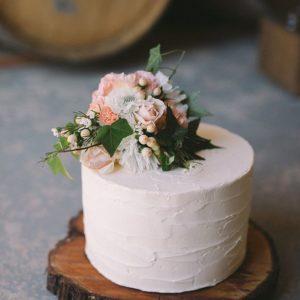 Одноярусний весільний торт