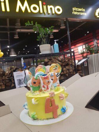 торт на 4 года