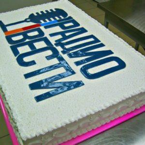 Кремовый торт с лого Радио Вести