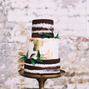 Комбинированный свадебный торт