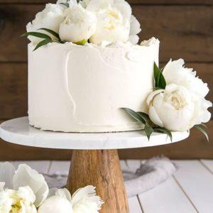 Торт на свадьбу в один ярус