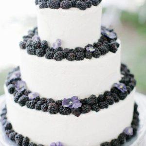 Торт прикрашений шовковицею