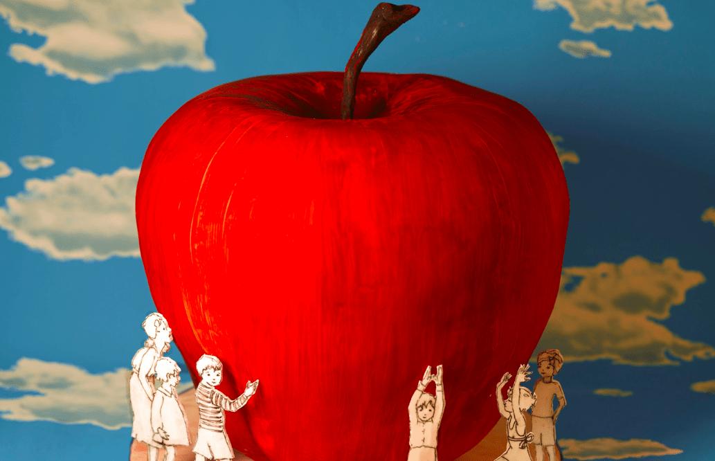 Торт в виде яблока