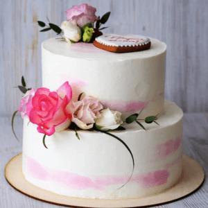 Торт без мастики с пряником