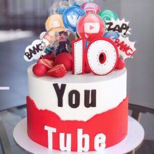 Торт «YouTube» для блогера