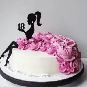 Торт для девушки на 18 лет