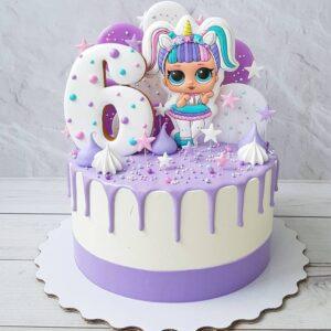 Торт на 6 років дівчинці