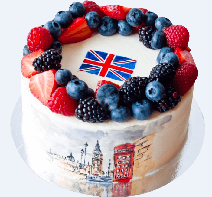 Торт с флагом Великобритании