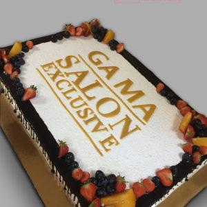 Торт білий з золотим написом