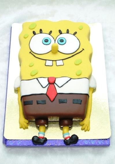 Торт в виде Спанч Боба